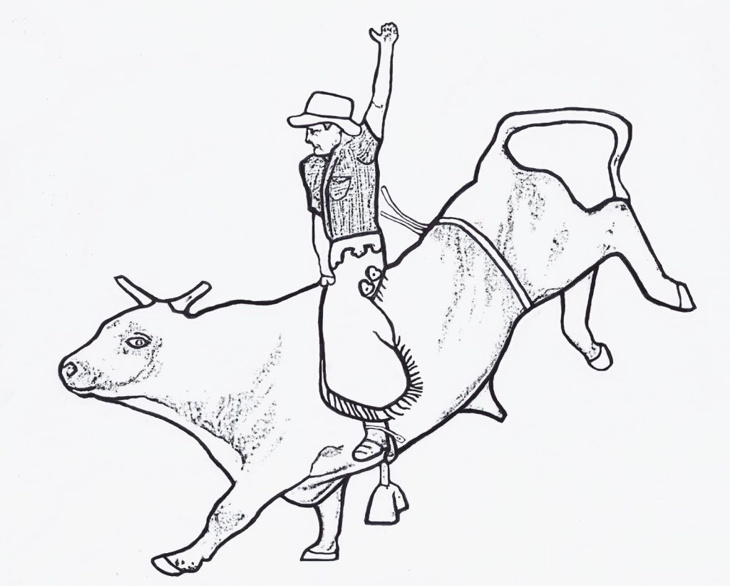 1024x821 Bull Riding Coloring Pages Coloring Pages Bull Riding