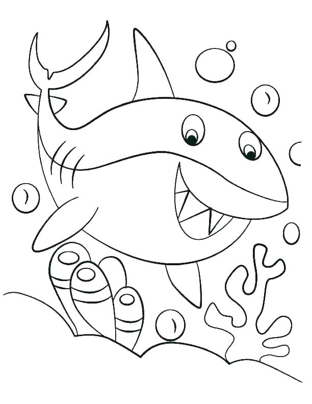 612x792 Sharks Coloring Bull Shark Coloring Pictures Page Hammerhead Sheet