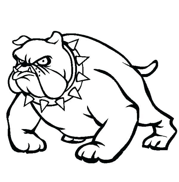 600x612 Bulldog Coloring Pages Bulldogs Coloring Pages Bulldog Coloring