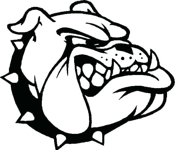 599x502 Bulldog Coloring Pages Bulldog Coloring Page Bulldogs Coloring