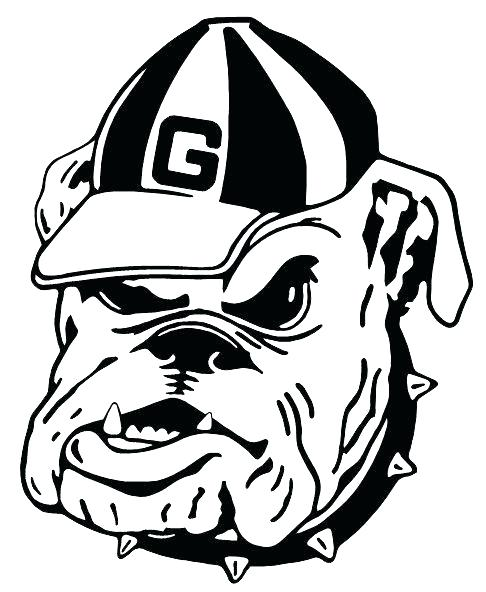 486x592 Georgia Bulldogs Coloring Pages Bulldogs Coloring Pages Bulldog