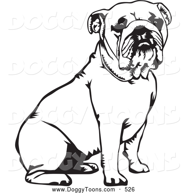 600x620 Bulldog Coloring Pages Printable