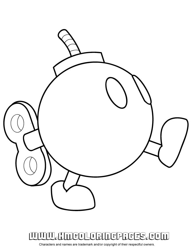 Bullet Bill Coloring Pages