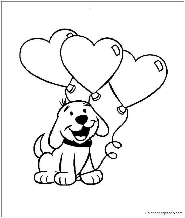 713x839 Cute Puppy With Heart Coloring Page Puppy Coloring Pages
