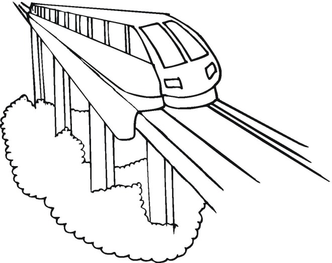 660x524 Coloring Pages Bullet Train For Preschoolers