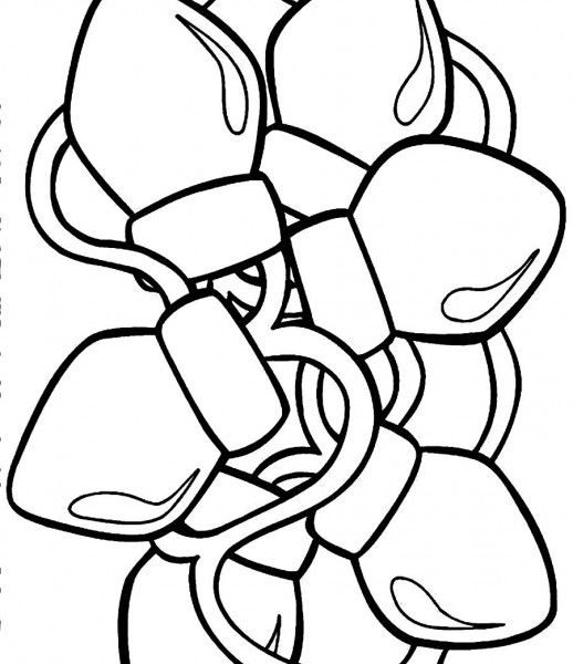 518x600 Christmas Light Coloring Sheet Coloring Pages