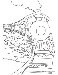 Bullet Train Coloring Page