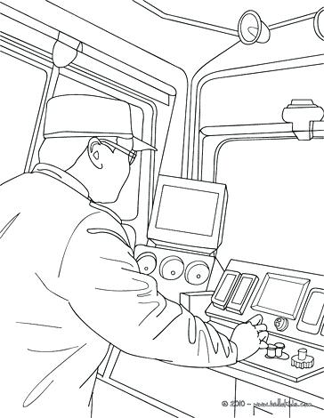 364x470 Train Coloring Pages High Speed Train Driver Driving Train Driver