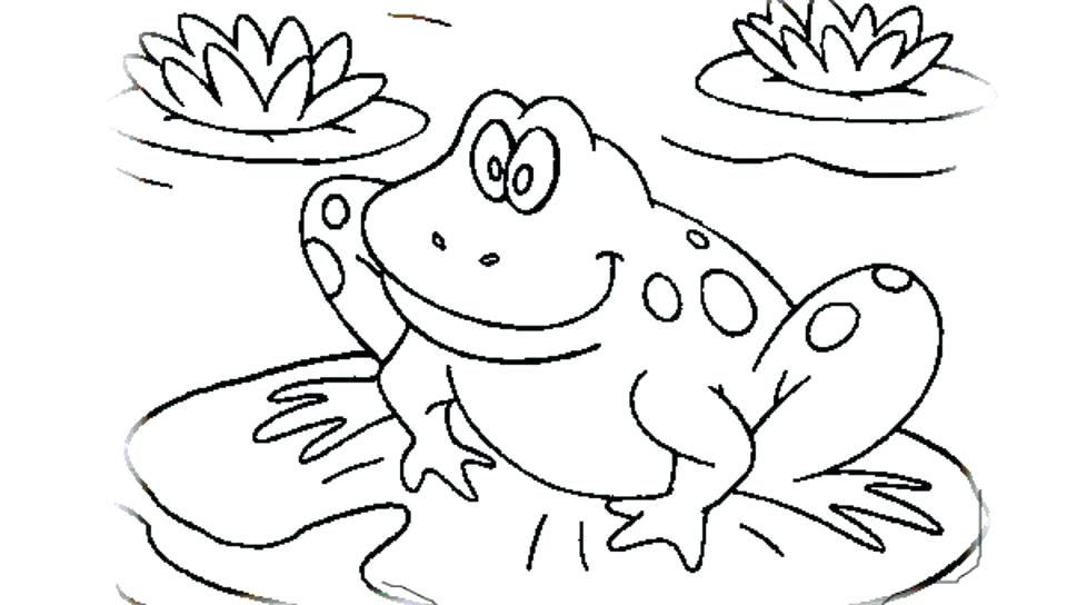 960x544 Frog Life Cycle Coloring Page Frog For Coloring Bullfrog Frog
