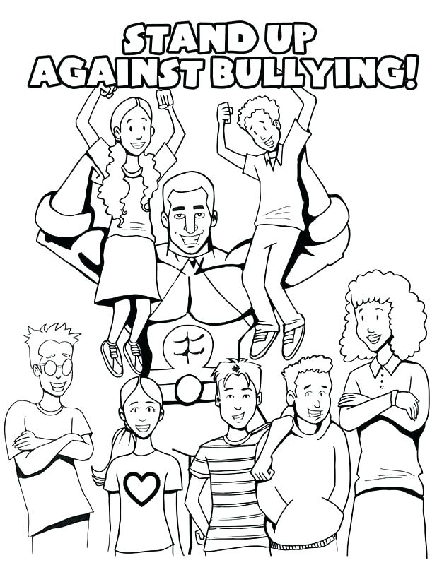 618x800 Bullying Coloring Pages Anti Free Anti Bullying Coloring Sheets
