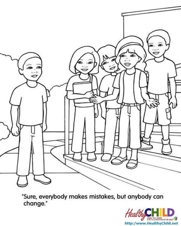 Bullying Coloring Pages At Getdrawings Com Free For