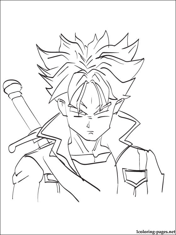 560x750 Future Trunks Dragon Ball Coloring Page Coloring Pages