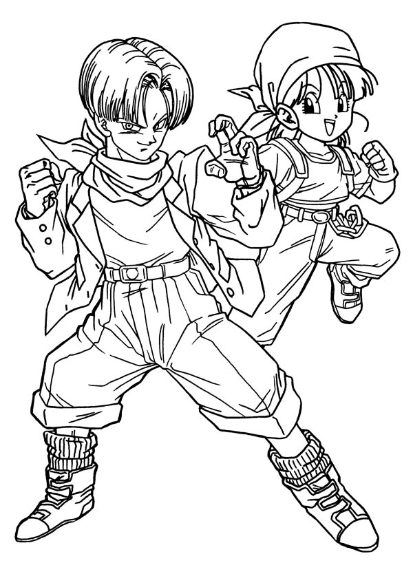 600x850 Dragon Ball Z Coloring Pages