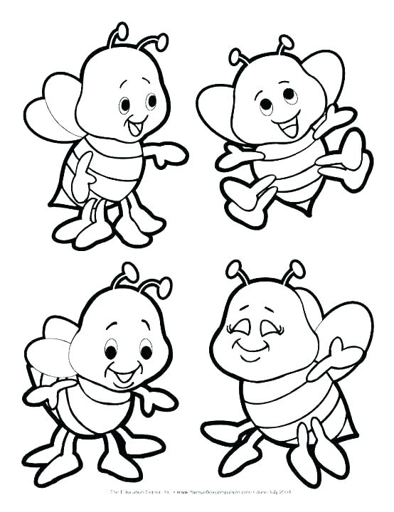 554x720 Bee Coloring Sheet Coloring Bee Coloring Bumble Bee Coloring Page
