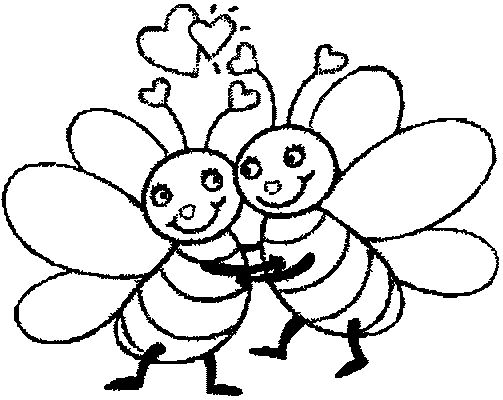 503x400 Bumble Bee Coloring Pages Coloring Pages Of A Bumble Bee Kids