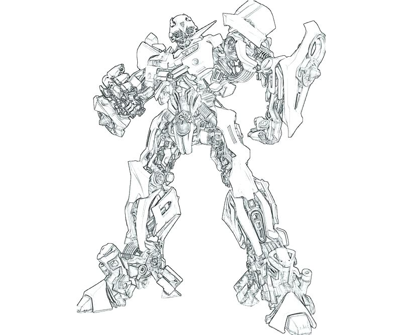Bumblebee Transformer Coloring Page At Getdrawingscom Free For