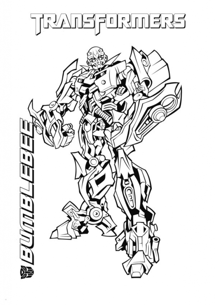 723x1024 Bumblebee Transformer Coloring Pages Printable
