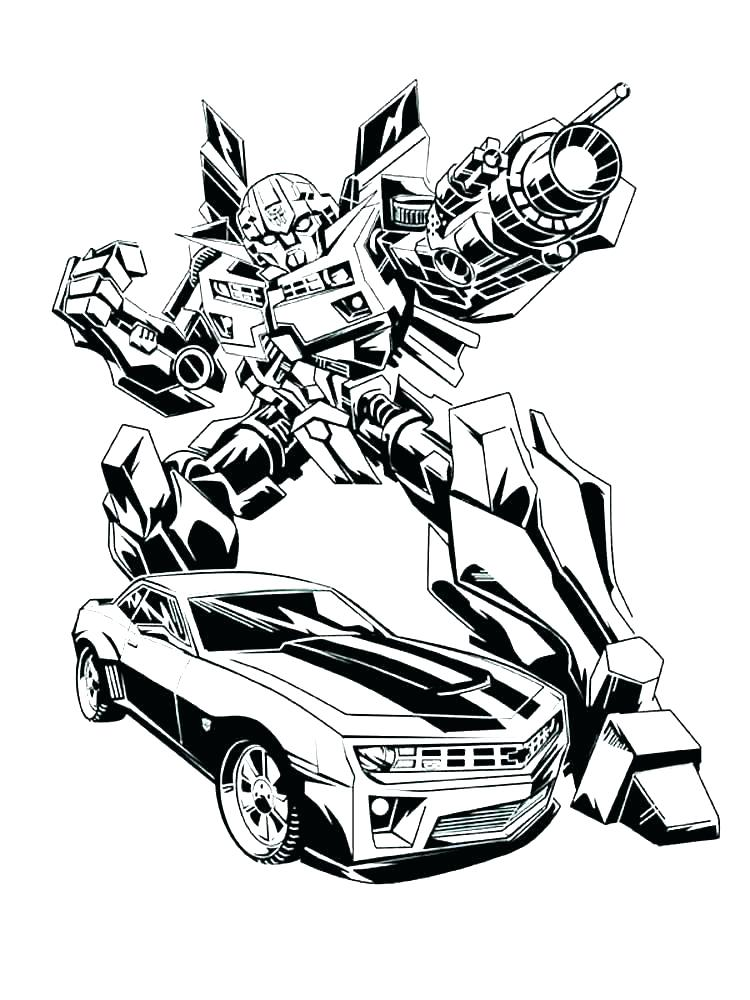 750x1000 Transformer Coloring Pages For Bumblebee Transformer Coloring Page