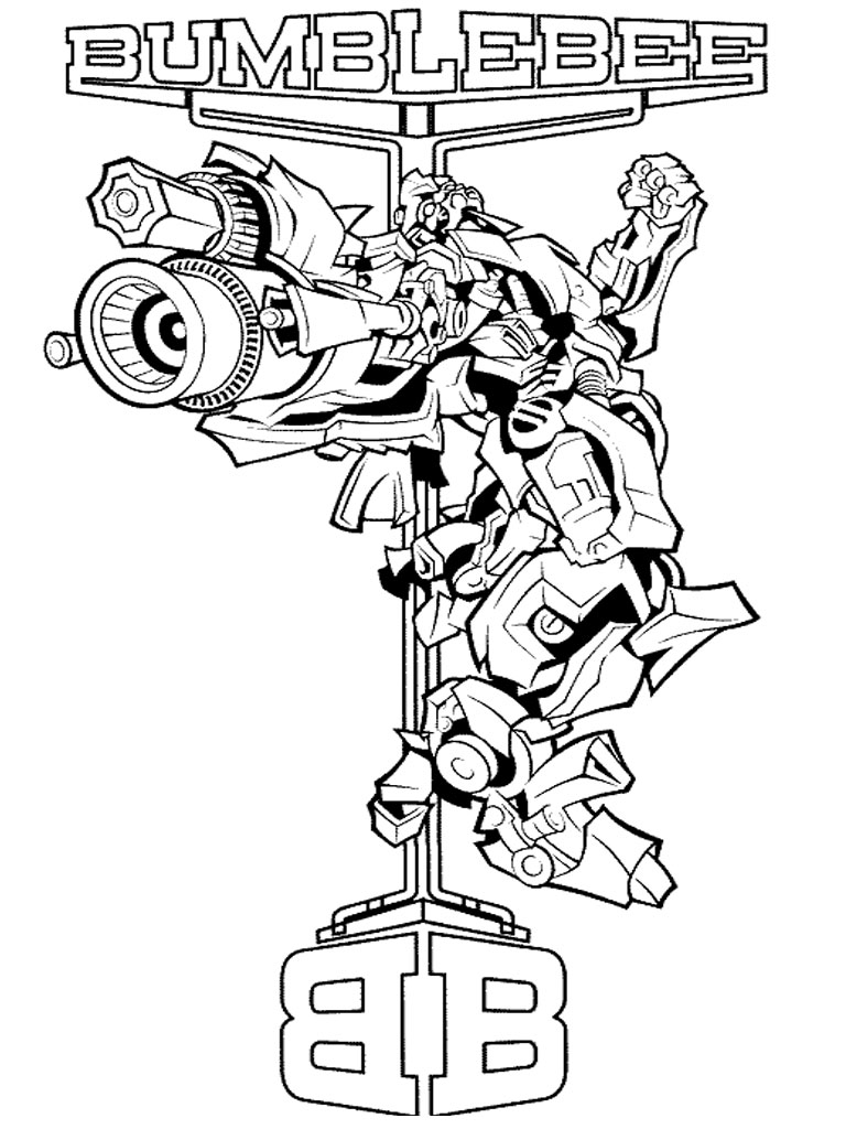 768x1024 Transformers Coloring Pages