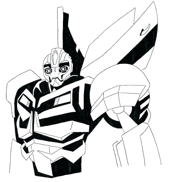618x639 Bumblebee Transformer Coloring Page