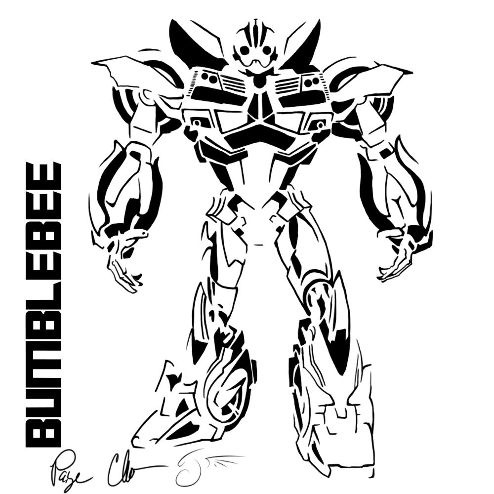 1000x1000 Bumblebee Stencil