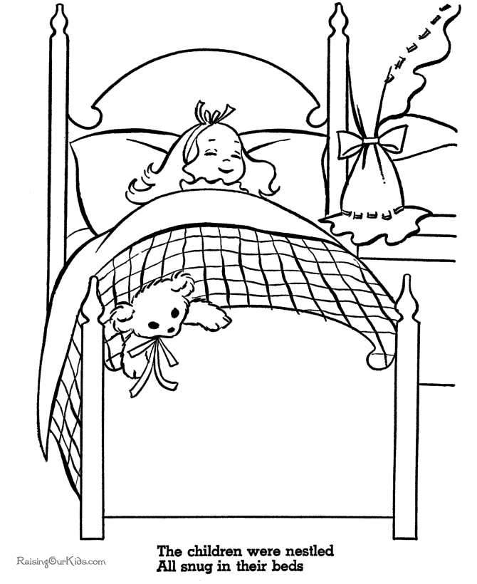 Bunk Bed Coloring Pages