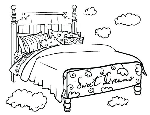 507x392 Bed Coloring Pages Monster Coloring Page My Bedroom Coloring Pages