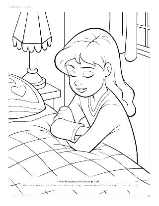 320x416 Bed Coloring Pages Related Post Bedtime Coloring Pages Printable