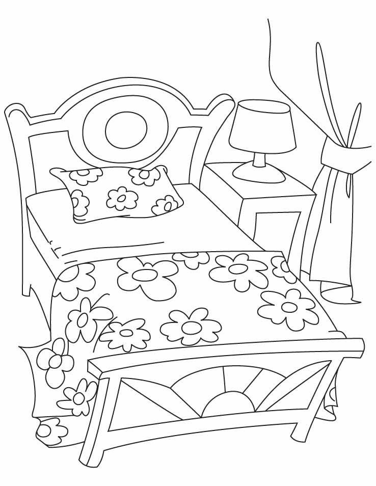 738x954 Bed Coloring Pages Download Free Bed Coloring Pages For Kids Bed