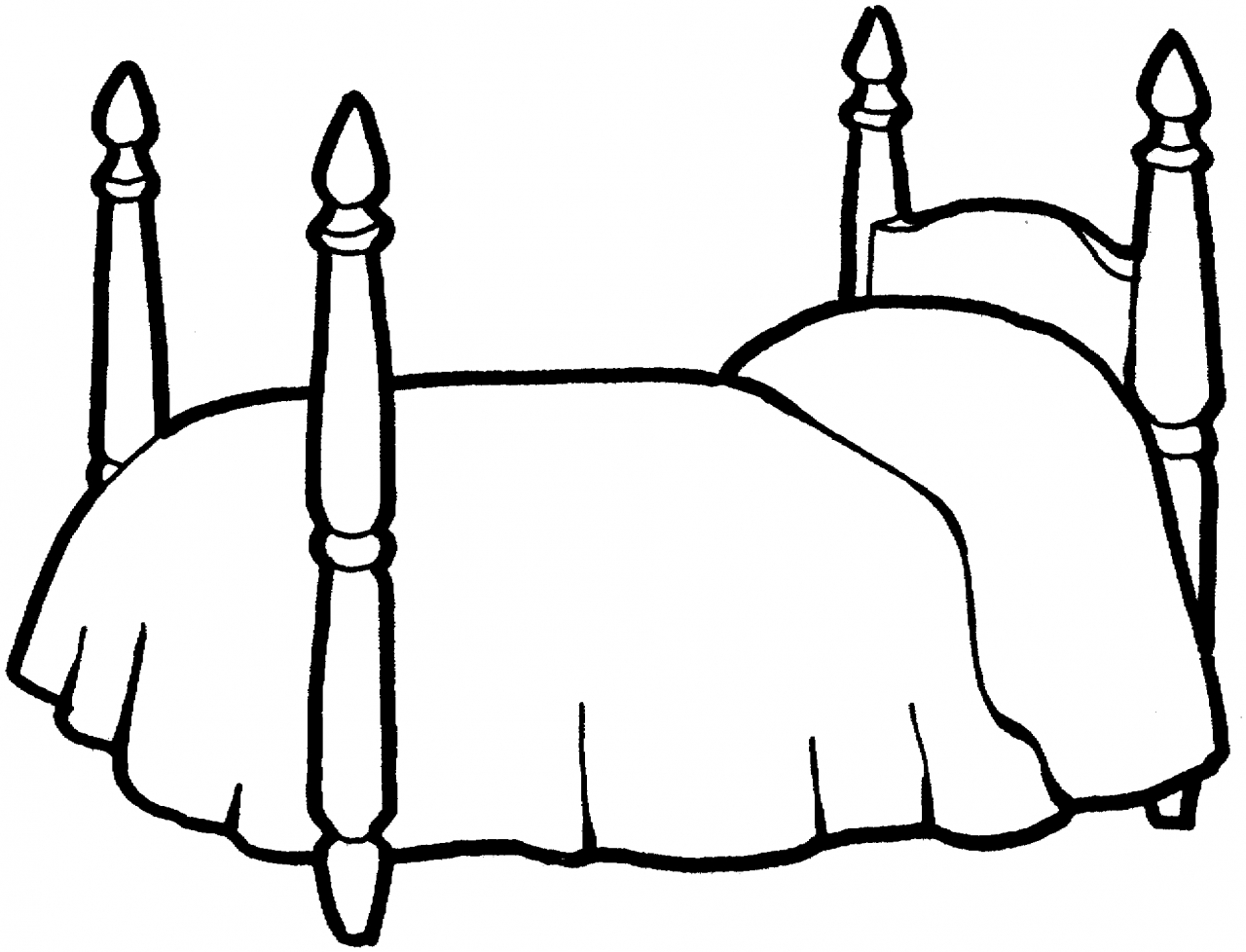 1280x978 Bed Coloring Page