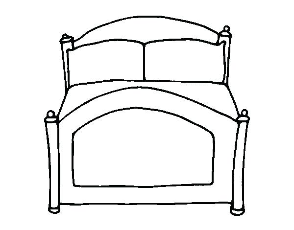 600x470 Bed Coloring Page Bunk Bed Coloring Pages Bedtime Coloring Pages