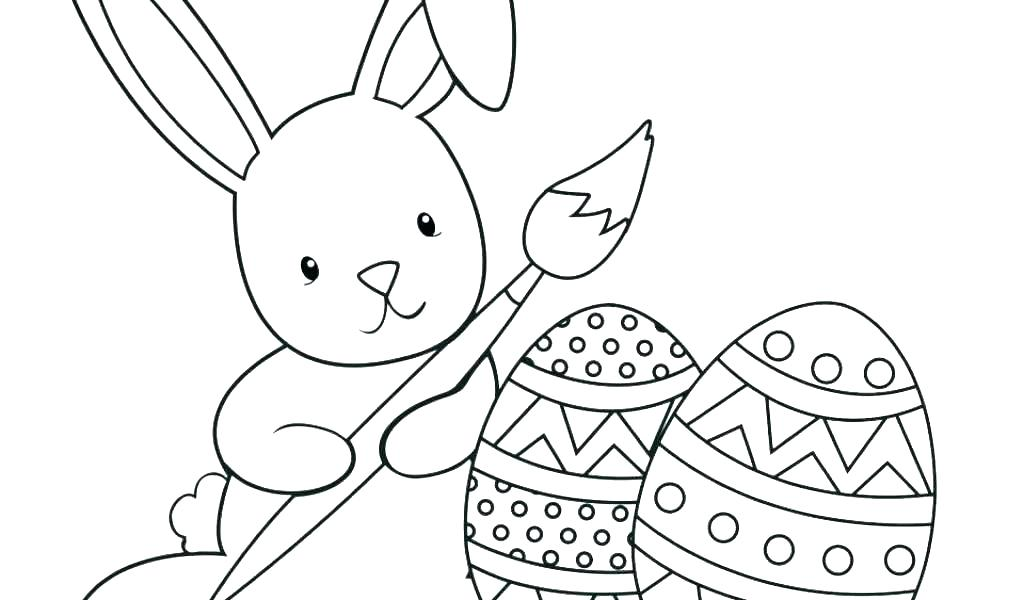 1024x600 Coloring Pages Of A Bunny