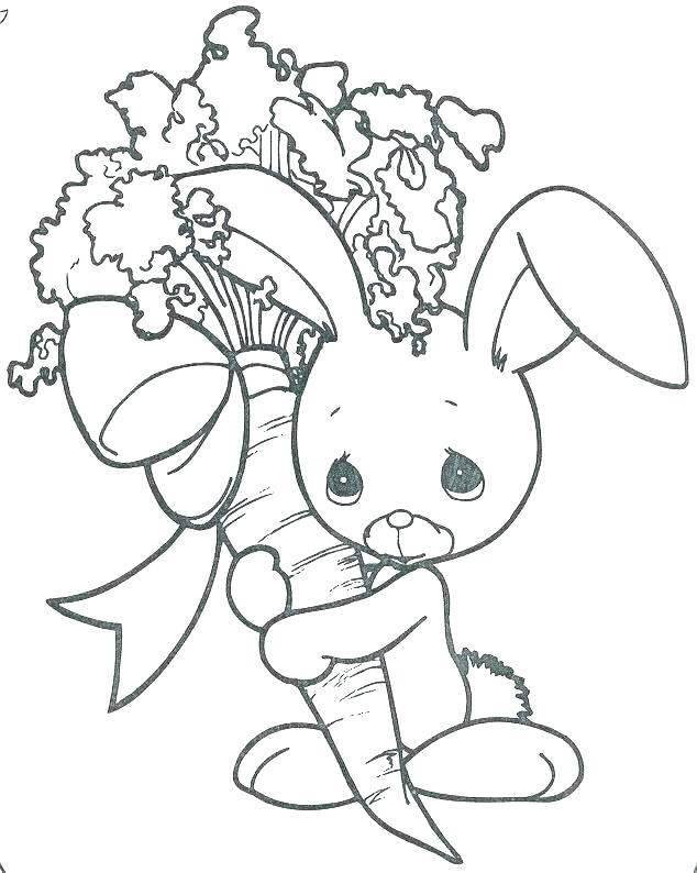 634x794 Bunny Rabbit Coloring Page Cartoon Printable Rabbit Coloring Page
