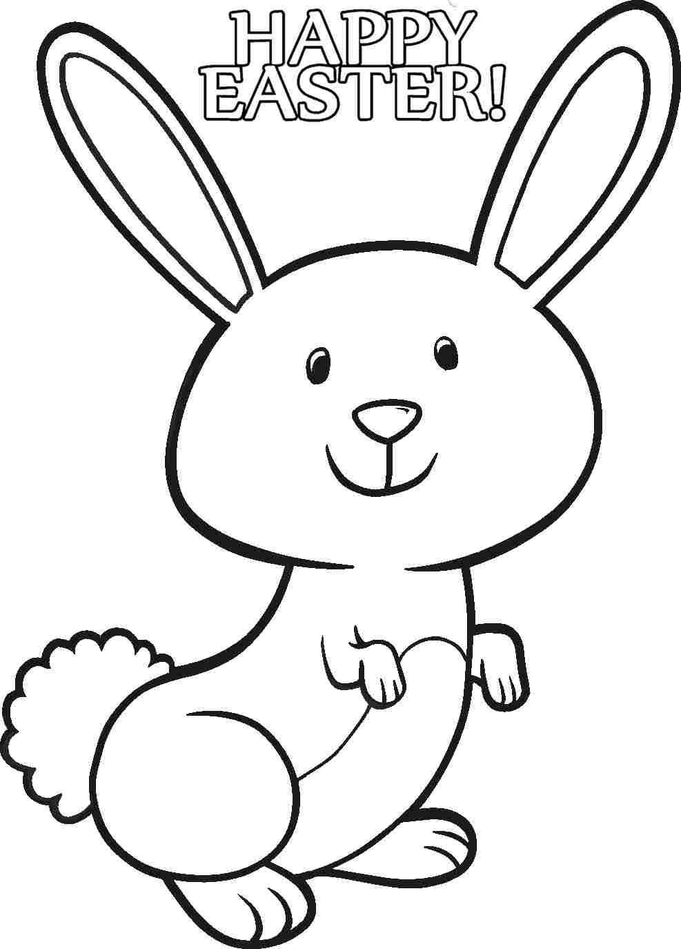987x1375 Easter Rabbit Coloring Pages For Kids Archives At Free Inside