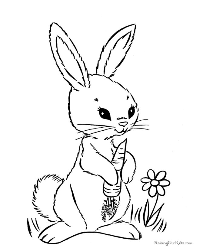 670x820 Bunny Coloring Pages Printable Bunny With Big Egg