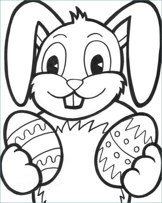 570x714 Easter Bunny Coloring Pages Kids
