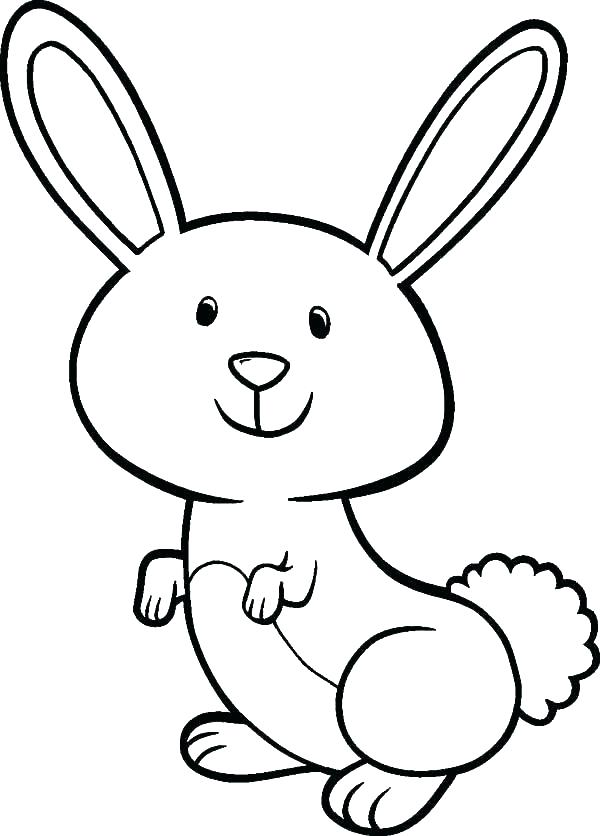 600x836 Free Easter Bunny Coloring Pages To Print