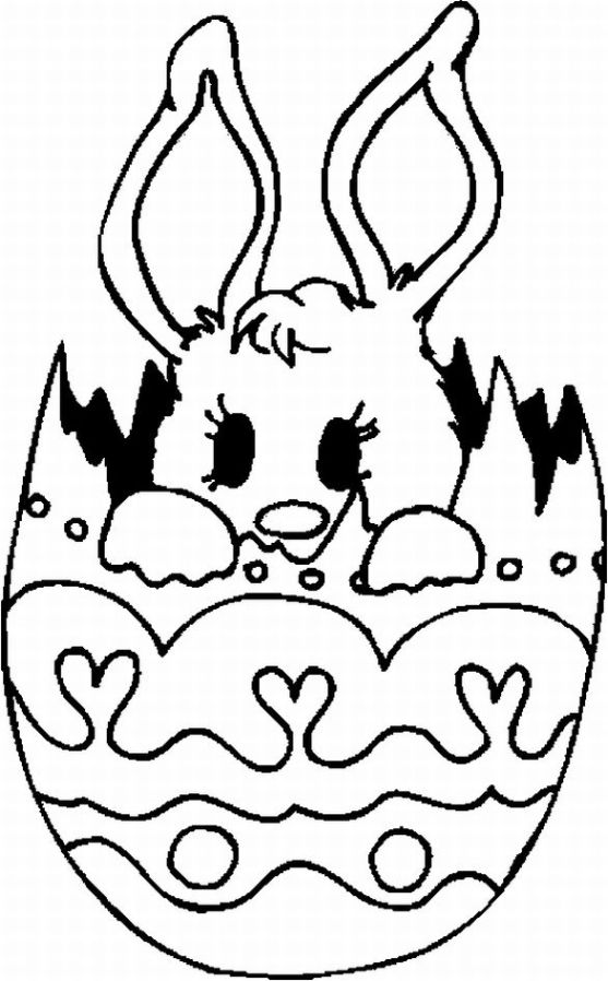 557x898 Cute Easter Bunny Coloring Pages