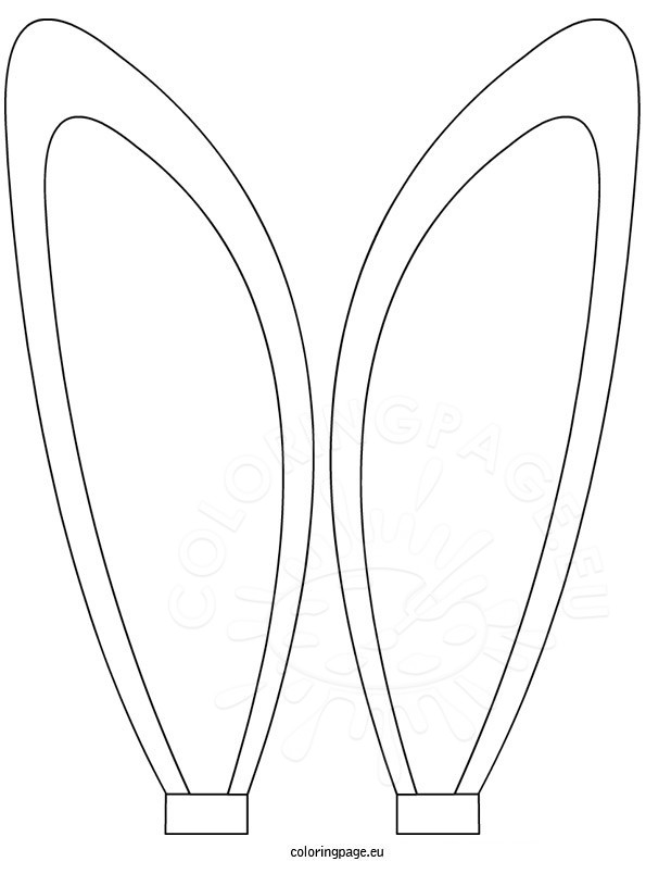 595x804 Bunny Ears Coloring Sheet Coloring Page