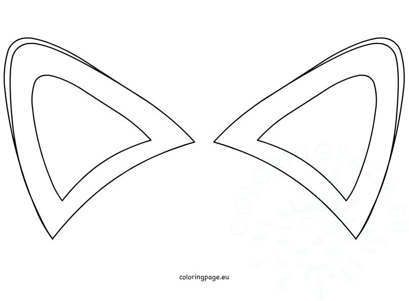 808x595 Ears Coloring Page Ear Coloring Page With Ideas Ear Coloring Sheet