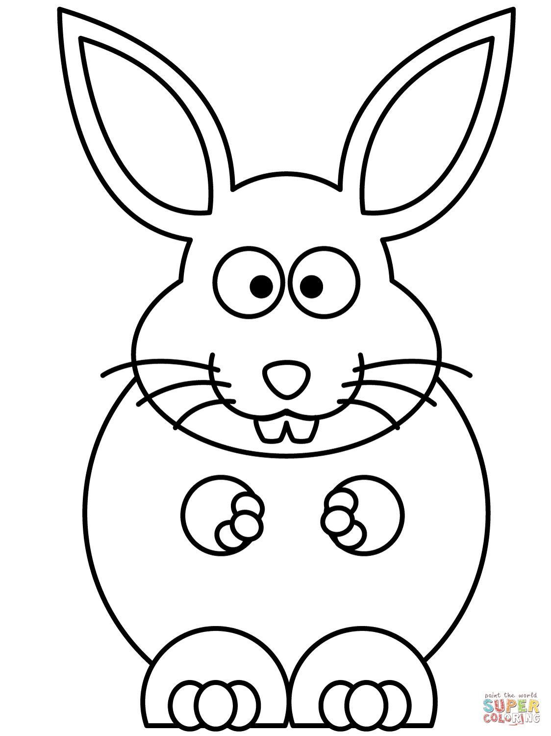 1124x1500 Bunny Ears Coloring Page