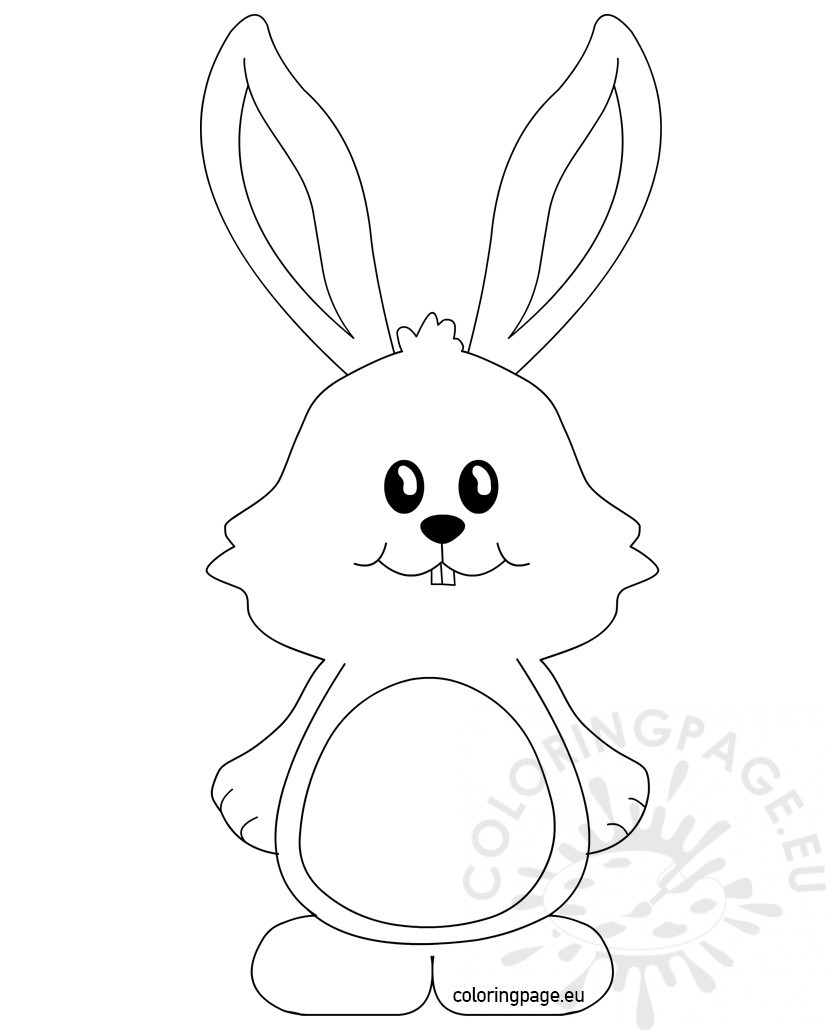 826x1030 Bunny Ears Coloring Page