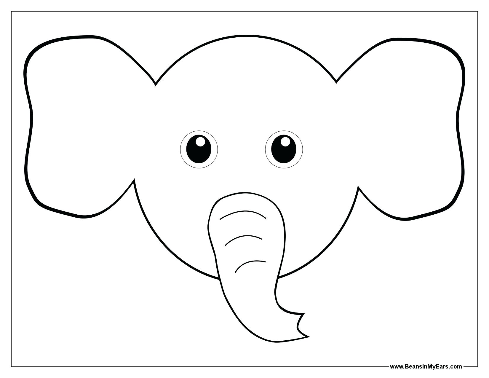 1650x1275 Bunny Ears Coloring Page