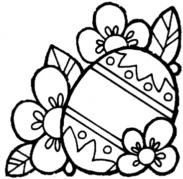 367x360 Coloring Pages Of Easter Eggs And Bunnies Happy Easter