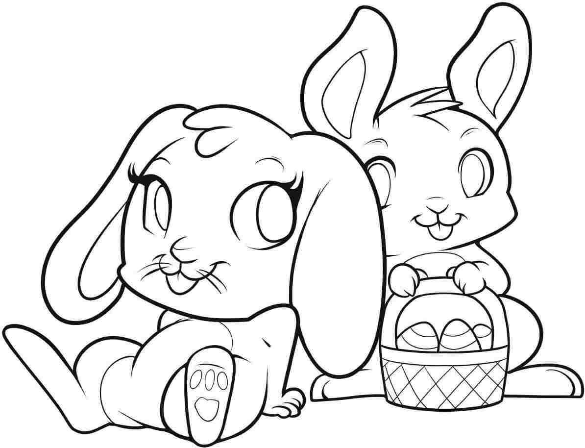 1194x914 Easter Bunnies In Love Free Coloring Page Animals, Easter