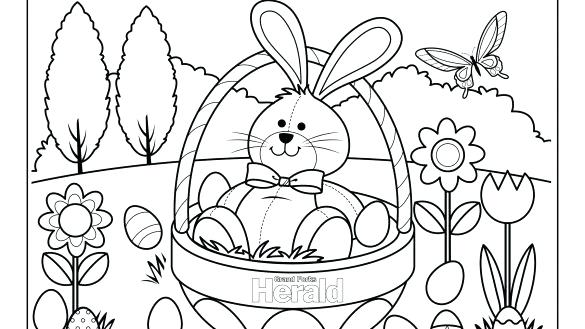 585x329 Easter Coloring Book Printable Coloring Pages Easter Coloring