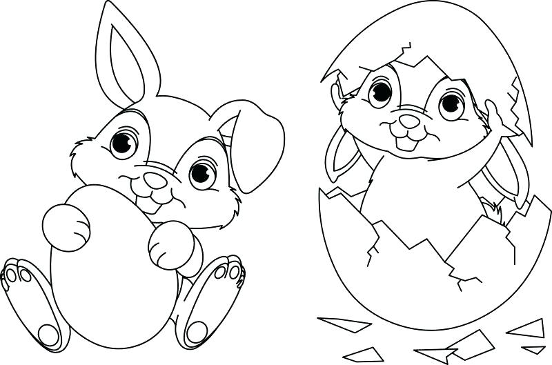 800x529 Easter Coloring Pages Bunny And Eggs Coloring Pages Free Online
