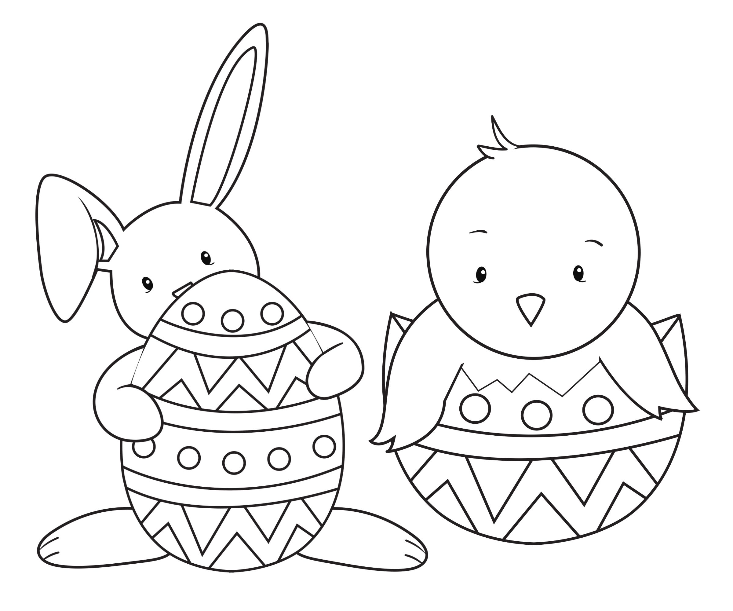 2400x2000 Easter Coloring Pages For Kids Easter Colouring, Easter