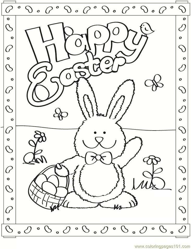 732x952 Free Easter Bunny Coloring Page