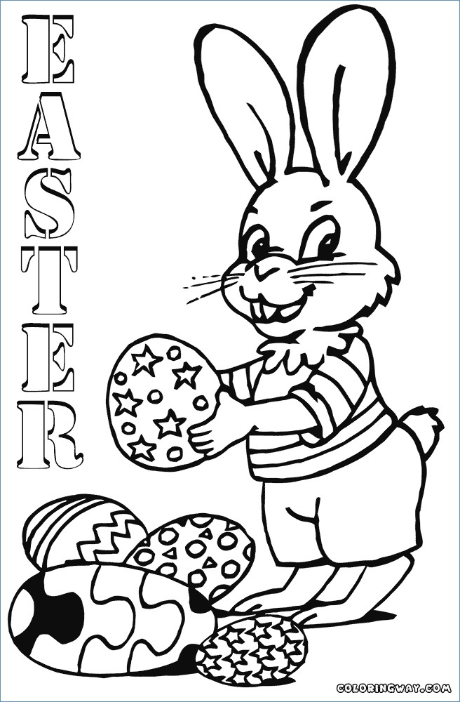 656x1000 Bunny Easter Egg Magic Show Coloring Pages